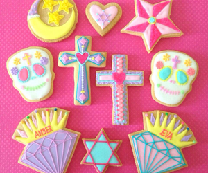 cookie, pink, and skull image