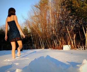 barefoot, cold, and show image