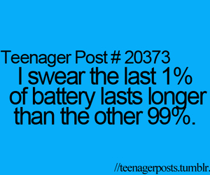teenager post, battery, and funny image
