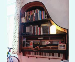 piano, book, and music image