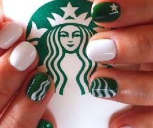 nails, starbucks, and green image