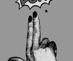 black and white, boom, and fingers image