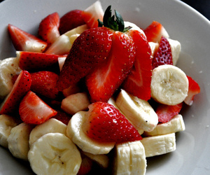 banana, strawberry, and food image