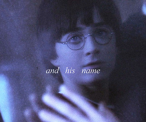 harry potter, mirror, and his name image