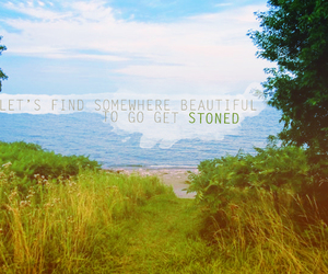 beautiful, stoned, and grass image