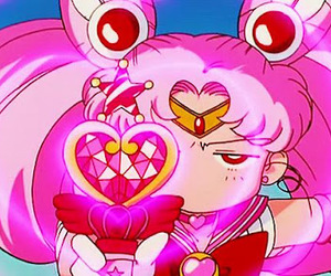 sailor moon, chibiusa, and pink image