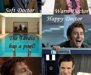 doctor who, david tennant, and tardis image
