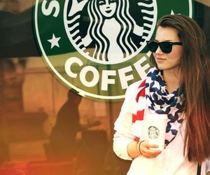girl, starbucks, and cute image