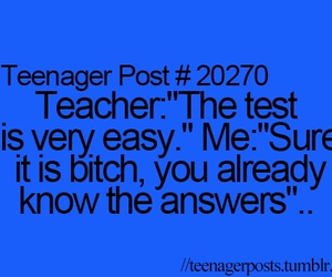 teenager post, test, and answer image