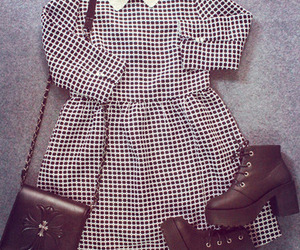 checkered, clothes, and fashion image