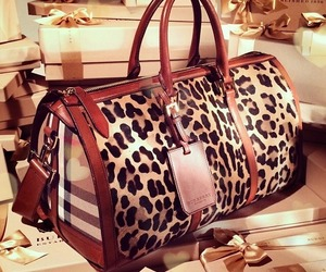 bag, Burberry, and leopard image