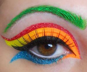 make-up and rainbow image