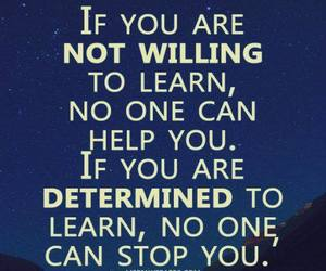 determined, learn, and quote image