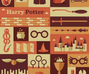 broom, deathly hallows, and goblet of fire image