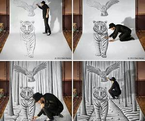 3d, amazing, and black and whie image