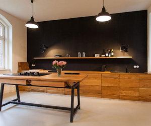 black, design, and interior image