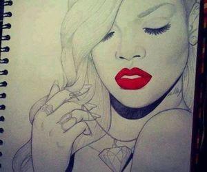 rihanna, drawing, and diamond image