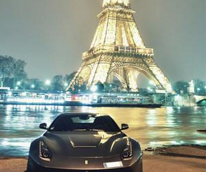 paris, car, and ferrari image