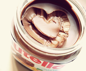 heart, yum, and nutella image