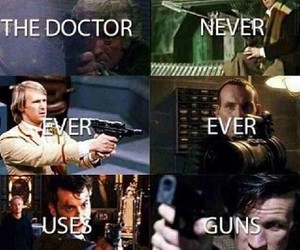 doctor who, the doctors, and gun image