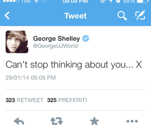 george, shelley, and tweet image