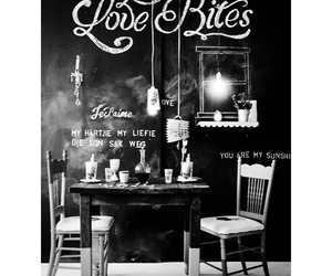 art, black and white, and cafe image