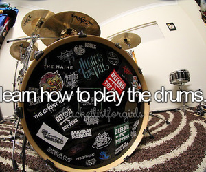 drums, music, and learn image