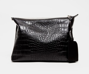 bag, black, and leather image