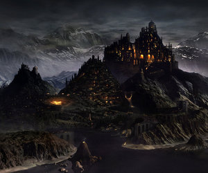castle, medieval, and night image