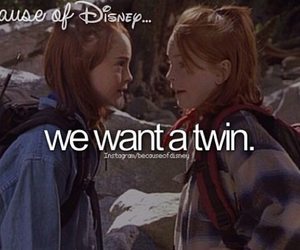 because of disney and twins image
