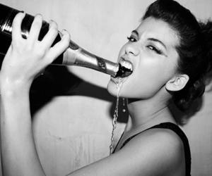 champagne, tea, and girl image