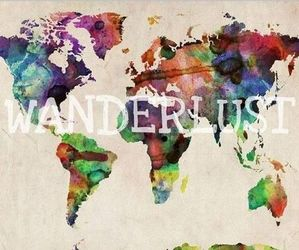 wanderlust, world, and colors image