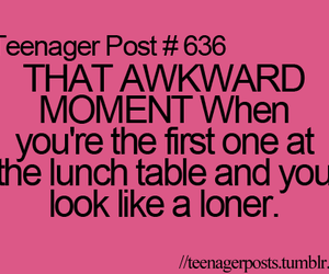 teenager post, awkward, and loner image