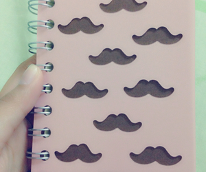 hehe, moustache, and notebooks image