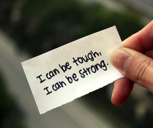 quote, strong, and tough image