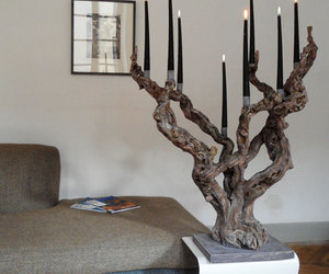 candelabra, rustic, and grapevine image