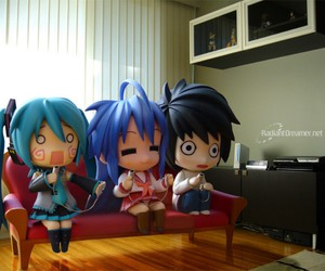 L, death note, and lucky star image
