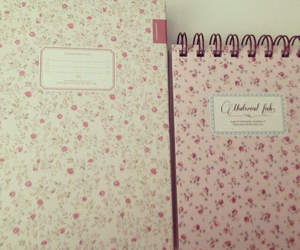 flower, notebook, and sweet image