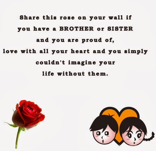 Share This Rose On Your Wall If You Have A Brother Or Sister You Are