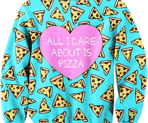 pizza, sweater, and food image