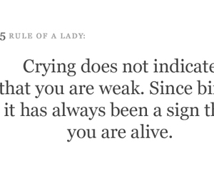 alive, crying, and quote image