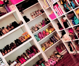 shoes, closet, and heels image