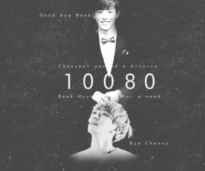 black and white, chanbaek, and 10080 image