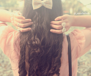 beauty, curly, and hair image