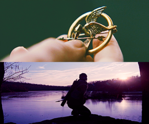 arena, catching fire, and bow and arrow image