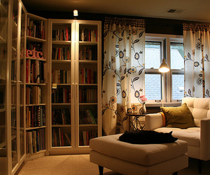 interior home and great home library design image