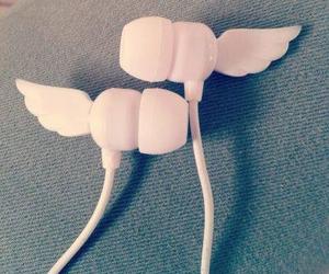 angel, headphones, and music image