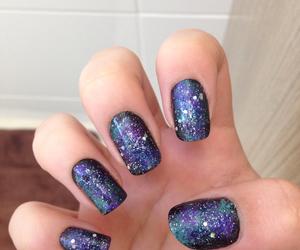 galaxy, nail art, and nails image