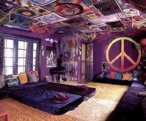 peace, room, and hippie image