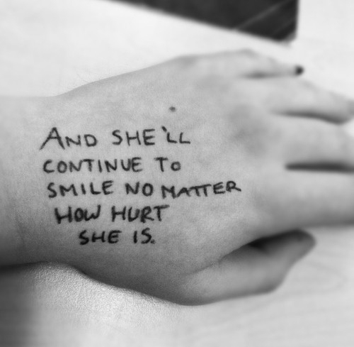 quote, hurt, and smile image